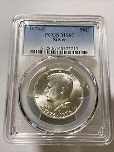 1976-S Silver Kennedy Half Dollar PCGS MS67 BLAST WHITE