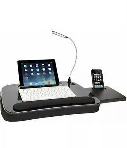 Sofia + Sam Multi Tasking Memory Foam Lap Desk with USB Light and Mouse Pad