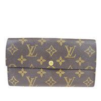 Auth Louis Vuitton Pochette Portomone Credit M61725 Monogram Long Wallet 09FA614