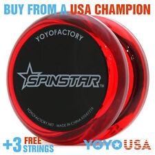 YoYoFactory Spinstar Beginner Yo-Yo Red + FREE STRINGS