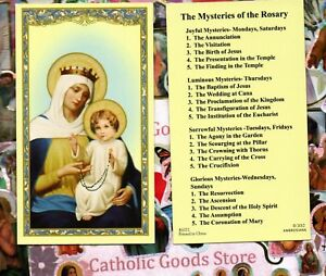 20 Mysteries of the Holy Rosary - Paperstock Holy Card