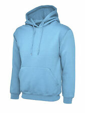 """Uneek Uc508 Olympic Hooded Sweatshirt Unisex Womens Mens Hoodie Jumper Sweater 3xl 50"""" - 52"""" Sky"""