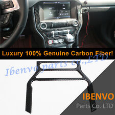 Luxury Carbon Fiber Front GPS Dashboard Console frame For Ford Mustang 2015-17