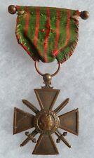 MEDAILLE CROIX DE GUERRE Bronze VERDUN 1914-1916 ORIGINAL FRENCH MEDAL WWI