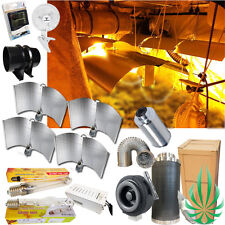Hydroponic Growroom Setup 4x Large Wing HPS MH Grow Light 10inch Fan Filter Vent