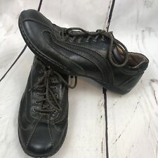 Born Women's Shoes Black Leather Lace Up Casual Loafers Oxfords Size 9.5 41