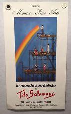 Tito Salomoni Building a Rainbow Signed 1980 Exhibition Art Print Poster 15 x 27