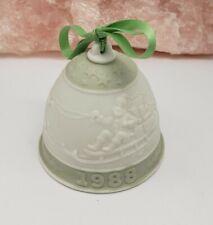 Vintage Lladro 1988 Christmas Santa'S Journey Porcelain Bell Ornament
