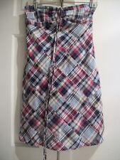 ANN TAYLOR LOFT PETITES Women's Size 2P Madras Patchwork Halter Dress