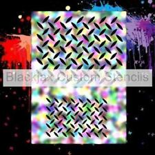 Diamond Plate Set Airbrush Stencil,Template