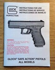 Factory Original Glock Safe Action Pistols All Models Instruction Owner Manual