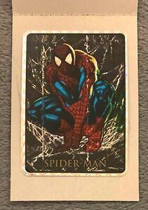 1992 Marvel Masterpieces SPIDER-MAN Vending Prism Sticker Card Black Border Rare