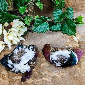 B6h 2 Pheasant Neck feathers Headband Hats Bridal Craft bird millinery fly tyin