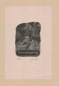 Ex Libris by Derek Riley Ltd Ed of 20 signed & numbered woodcut