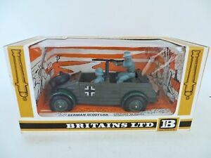 BRITAINS 9783 'GERMAN WWII SCOUT CAR'. 1:32. MIB/BOXED. SUPERB. VINTAGE.