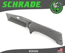 Schrade Folding Knife Large Heavy Duty 9Cr18MoV Carbon Titanium Coated SCH301