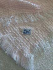 "Julius Berger Pink Sewn Acrylic Girls Baby Blanket  34""x37""approximate"