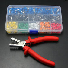 801 Ferrule Crimper Plier +800 Electrical Wire Connector Terminal Crimp Tool Kit