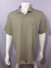 Mens Puritan Pullover Shirt XL Beige Tan 100% Cotton Casual Work Office Business