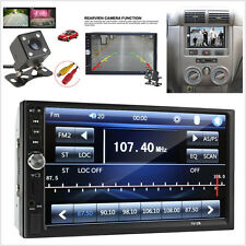 "7"" 2DIN FM Bluetooth HD Touch Screen Stereo Radio Video Car MP5 Player + Camera"