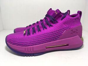 Under Armour UA Heatseeker Purple Gold 3020895-501 Men's Shoes Size 10