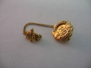 Rare Vintage 1963 GORTON Newspaper Pin Award Gold Tone Jewelry