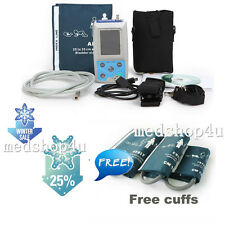 CE CONTEC ABPM50 24 Hours Ambulatory Blood Pressure Monitor+Software+3 Cuffs