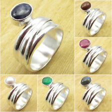 ADJUSTABLE Ring Collection ! 925 Silver Plated SODALITE & Other Gemstone UNISEX