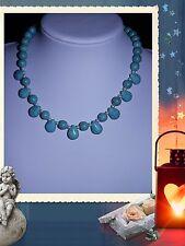 """Unique BLU tuequoise ONE OF A KIND realizzata a mano collana gioielli 20 """" @ Jay Wolfe"""