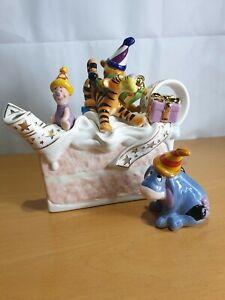 Paul Cardew Disney Showcase Winnie The Pooh Birthday Cake Large Teapot