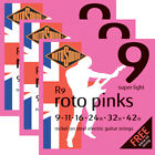 3 Sets Packs Rotosound R9 Roto Pinks Electric Guitar Strings Super Light (9-42) for sale
