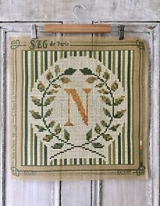 French SEG de Paris Tapestry Needlepoint Canvas Lockdown Hobby 1 of 3 available
