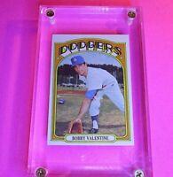 1972 Topps #11 Bobby Valentine Dodgers NrMt NM