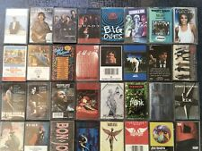 47 Rock Cassette Lot Metallica Red Hot Chili Peppers  Aerosmith Nirvana, Guns