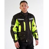 Viper Signal Motorcycle Textile Jacket Black/Yellow Waterproof Motorbike Jacket