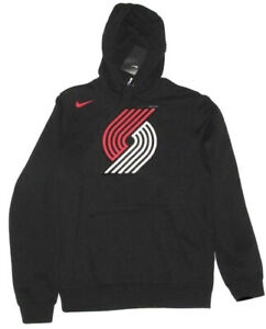 Nike Portland Trail Blazers Club Logo BRAND NEW NBA Hoodie Small 881161-010 NWT