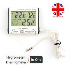 Digital Indoor ℃/℉ Max Min Thermometer Hygrometer Humidity Meter w/ Probe Sensor