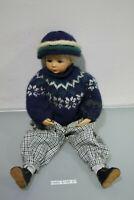 Puppe Sammler Sammlerpuppe ca. 50cm Junge (H440-6108-21-A35)