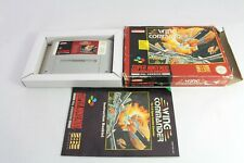 Snes Super Wing Commander Pal Video Game Boxed