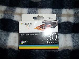 "Polaroid  Zink Photo Paper 2"" x 3"" Mobile Printer LG Zip PoGo Snap HP 30 Sheets"