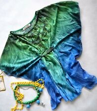 Chiffon Summer Kaftan Beach Casual Party Outfit Festival Top Batwing Sleeve L