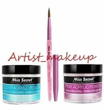 Mia Secret Acrylic Nail Powder Pink + Clear 2 oz + Kolinsky Artistic Brush # 3D