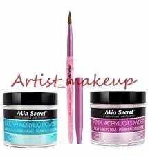 Mia Secret Acrylic Nail Powder Pink + Clear 2 oz + Kolinsky Artistic Brush # 3D