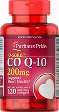 PURITANS PRIDE Q-SORB CO Q-10 200 mg 120 Soft Gels - Heart Health - NEW
