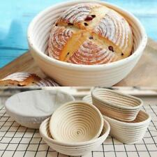 NEW HOT Large Bread Proofing Basket Dough Rattan Bread Basket Round Oval
