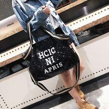 Women Shoulder Bag Large Sequin Tote Casual Black Handbag Fashion Style Bag