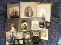 Lot of Antique Photos Including RPPC Real Photo Postcard and a Tintype