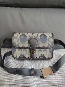 COACH C4512 Bape X Coach Turnlock Tab Belt Bag In Signature Chambray