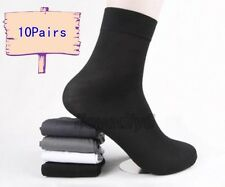10 Pairs Man's Short Bamboo Fiber Socks Stockings Middle Socks Black