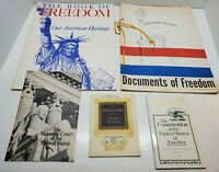 Documents of Freedom USA Constitution History Book Booklet Souvenir Estate Lot